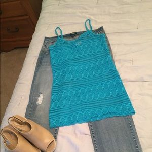 BKE Lace Stretchy Tank Top
